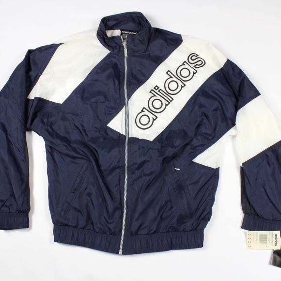 9a672b6fc466 Vintage 90s New Adidas Spell Out Soccer Jacket Men. NWT